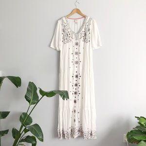 Knox Rose boho white maxi dress